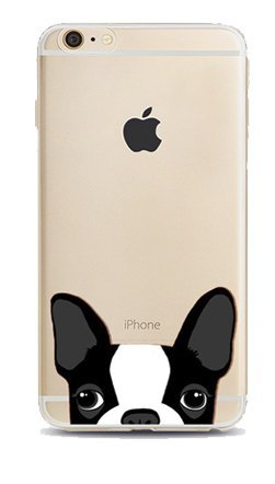 iPhone 6 ,iPhone 6s-Coque gel souple incassable anti choc avec impression motif fantaisie-NOVAGO® (Dog)