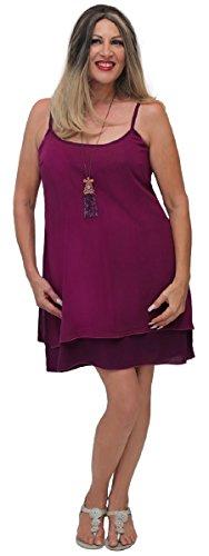 Lotustraders -  Vestito  - linea ad a - Basic - Senza maniche  - Donna Violet