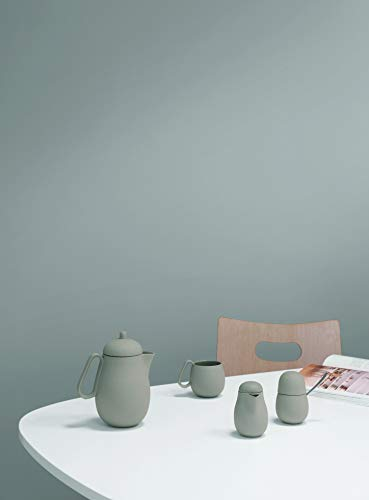 VIVA scandinavia 3-TLG Tischset bestehend aus Designer Teekannne, Michkännchen und Zuckerdose mit Löffel aus Edelstahl -