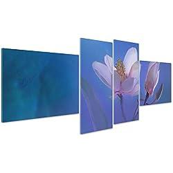 Cuadro Margaritas Flores de Colores-Abstracto Pintado Digital-Naturaleza Panorama Paisaje; Campo Florido Bouquet Moderno Sobre Lienzo Canvas