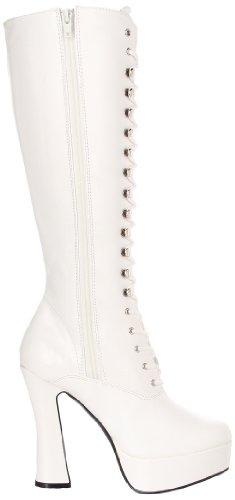 Pleaser EU-ELECTRA-2020 ELE2020/B/PU, Stivali donna Wht Faux Leather