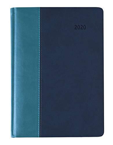 Buchkalender Premium Water türkis-blau 2020 - Bürokalender A5 - Cheftimer - 1 Tag 1 Seite - 416 Seiten - Tucson-Einband - Terminplaner - Notizbuch