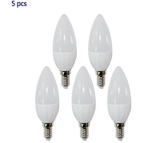 E14 4W llevó la luz de las velas 4 SMD 2835 320LM blanco cálido / blanco frío ac 85-265v 5 PC ,