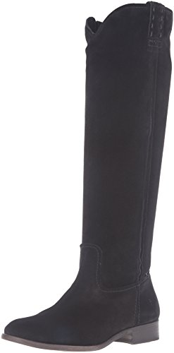 FRYE Women's Cara Tall Suede Slouch Boot, Black, 8 M US (Tall Boot Black Suede)