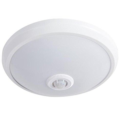 LED Deckenleuchte mit Bewegungsmelder incl LED 14 Watt 800 lm Deckenlampe Ø29cm - Globe Deckenleuchte