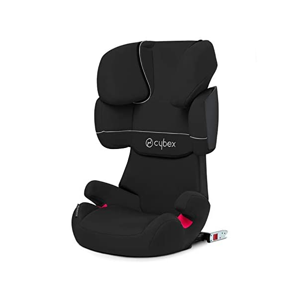 CYBEX Silver Solution X-Fix Child's Car Seat, For Cars with and without ISOFIX, Group 2/3 (15-36 kg), From approx. 3 to approx. 12 years, Pure Black  Group II / III car seat suitable 15-36 kg (approx. 3-12 years) Features a double-chamber system for greater impact protection Includes ISOFIX Connect for extra stability and safety. Enhanced safety and stability and easy one-click installation 1