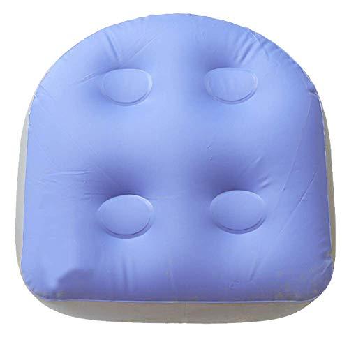 CVERY Spa Kissen Aufblasbar Badewanne Massage Matte Back Pad mit Saugnapf Becher um zu Verhindern Schwimm oder Bewegend, Wasserfest Booster Sitz Laden 150 KG - 40x37x15cm, Free Size