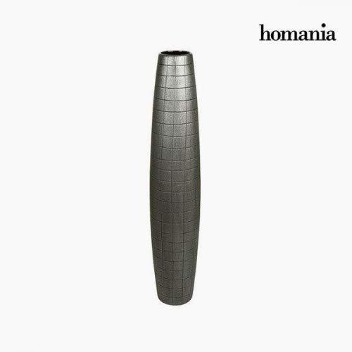 Vase de sol Céramique Argent (19 x 19 x 100 cm) by Homania