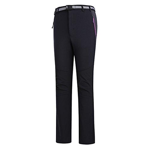 emansmoer Femme Pantalon Softshell Doublé Polaire Coupe-Vent Imperméable Outdoor Sport Pantalon de Randonnée d'escalade