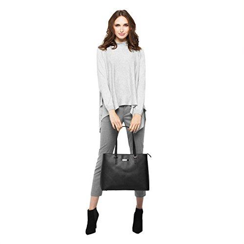 tragwert. Borsa a mano da donna Shopping Bag LENA nera - Borsa tote a spalla Shopper Borsa a tracolla