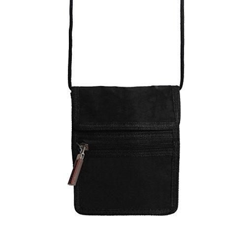 Bag Street -präsentiert von ZMOKA® - Portadocumentos de cuello  unisex, negro (Negro) - 0