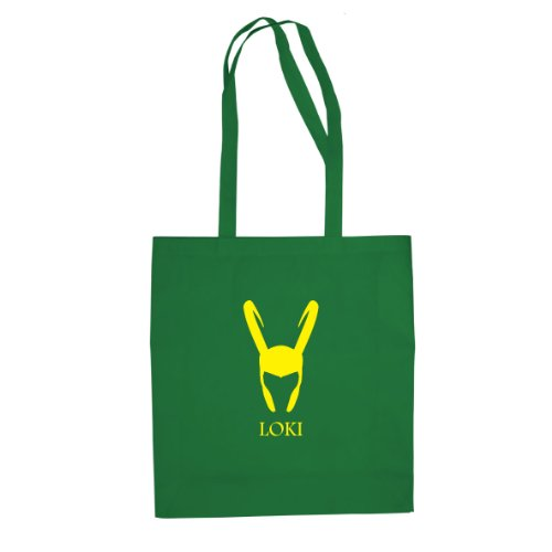 Loki - Stofftasche / Beutel, Farbe: grün (Grüne Spiderman Kostüm)