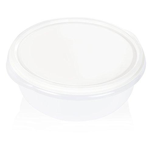 Wenco Hefeteigschüssel 6 l Skala, Plastik, Weiß, 32.5 x 32.5 x 12 cm