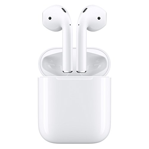 Apple AirPods – Wireless Headset with Mic (White, In the Ear)