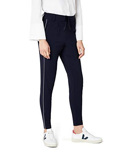ONLY Damen onlPOPTRASH Piping Pant NOOS Hose, Blau (Night Sky), 38/L32 (Herstellergröße: M) -