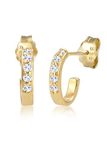 Elli Premium Damen-Creole 14_k_(585) Gelbgold Topas 0309820417