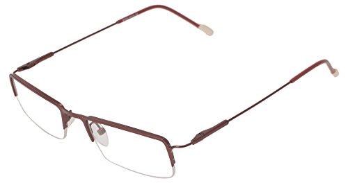 Laugh Semi-Rimless Rectangular Unisex Spectacle Frame - (Do-26-Red|55)