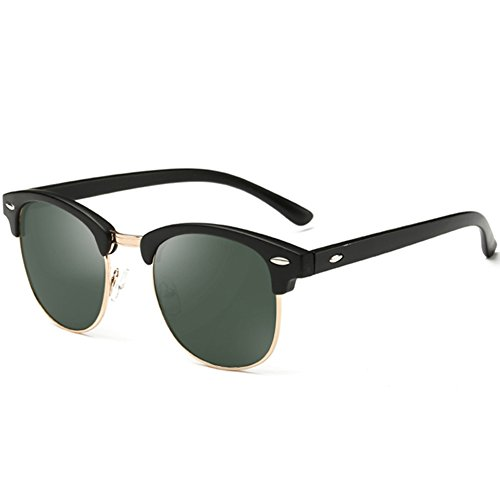 Price comparison product image Joopin® Semi-Rimless Polarized Sunglasses Women Men Brand Vintage Glasses Plaroid Lens Sun Glasses (G15)