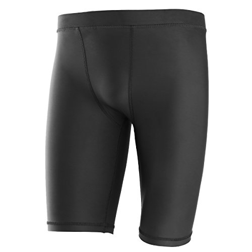 Yaha Herren Cool Dry Kompression Base Layer Shorts Pants Tights, Herren, schwarz - Tights Base Layer Shorts