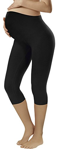 Italian fashion if leggings premaman 3/4 (nero, xl)