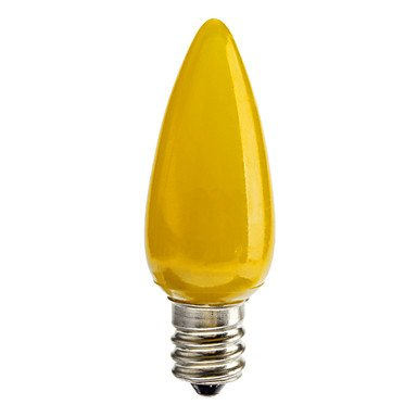 FDH 0.5W E12 Luces de velas LED C35 50 lm verde / rojo / azul / amarillo decorativos,verde 220-240 V CA