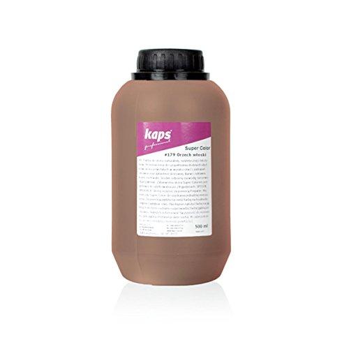 Kaps Super Color Lederfarbe für Naturleder, Synthetik und Textil, Lederfärber, 500 ml Color Walnuß 179 - Qualität Walnuss
