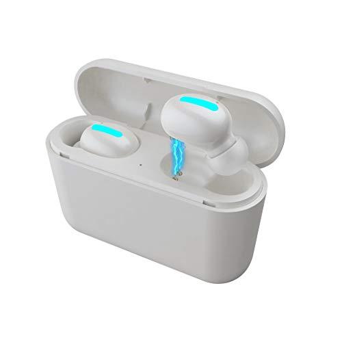 Mumuj HBQ Q32 Bluetooth Sport in-Ear Kopfhörer, Mini TWS Sport Wireless Bluetooth 5.0 IPX5 Waterproof Stereo Headset In-Ohr Ohrhörer mit Mikrofon mit EDR für iPhone, Huawei und Samsung (Weiß) - Ohrhörer Apple Mini Ipad