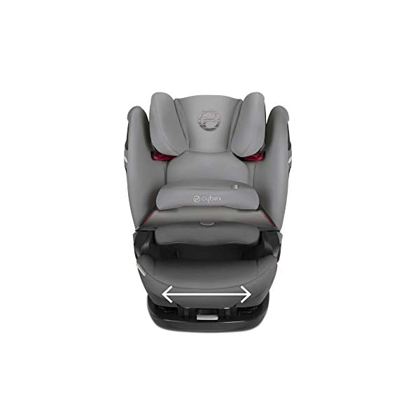 cybex Gold Pallas S-Fix Car Seat, Group 1/2/3, Manhattan Grey  Group 1/2/3 combination car seat. suitable from 9 - 36kg. designed to be used until a maximum height of 150cm, approximately 12 years. The optimized impact shield of the pallas s-fix reduces the risk of serious neck injuries without confining the child. shield suitable until 18kg. The integrated lisp. system offers increased safety in the event of a side-impact collision by reducing the forces by approximately 25%. 12