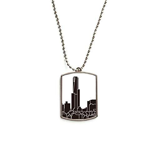 QQJSY Halskette mit Anhänger in Form eines australischen Landmark Wolkenkratzer aus Edelstahl