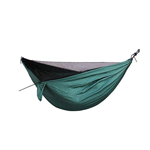 Breay1986 Camping Hängematte - Doppel Fallschirm Hängematte Marke Lightweight Nylon Mens Womens Kids, Best Camping Zubehör Gear (Color : Green) - Womens Hängematte