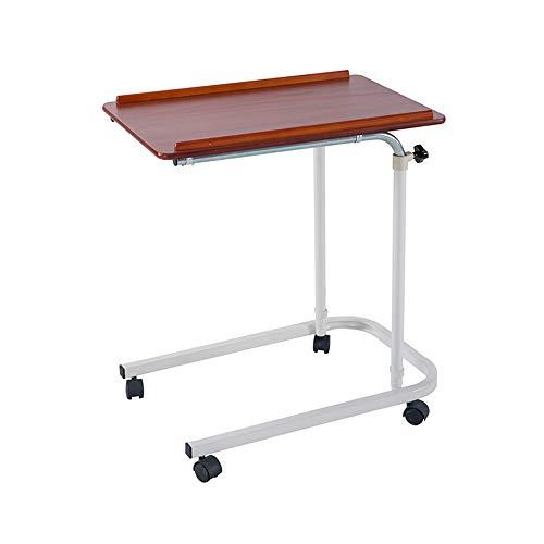 FEI Beweglicher Laptop-Schreibtisch-Wagen-Projektor-Stand Overbed-Tischhöhe und Engel-justierbarer tragbarer Computer-Laptop-Stand. (Farbe : Red Cherry)