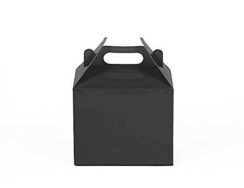 gradable Kraft / Craft Favor Treat Gable Boxes (Small, Black) by Gift Expressions (Small Favor Boxen)