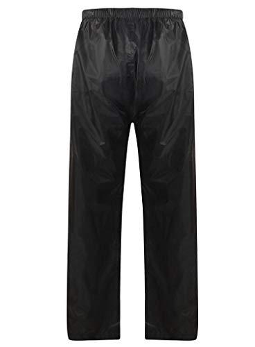 MBSmoto MR32 - Pantalón impermeable para motocicleta, color negro