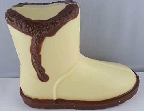 01#063020 Schokoladen Moon Boots, Winter Stiefel, Schneestiefel, Muttertag, weiße Schokolade, Schokolade mit braunen Streifen, Geburtstag, Schuhe, Damenschuh, Geschenke