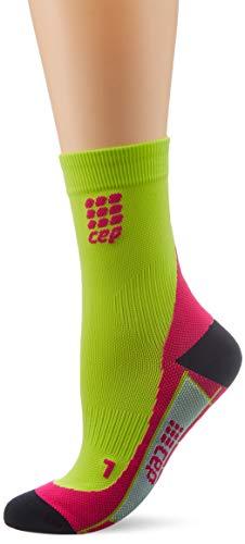 CEP - DYNAMIC+ SHORT SOCKS, Laufsocken kurz für Damen, grün / pink in Größe IV, Sportsocken made by medi