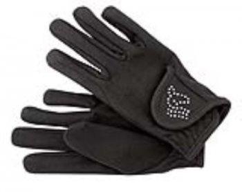 Pfiff 102120 Kinder Handschuhe, Kinderhandschuhe Reithandschuhe, schwarz 12 Jahre