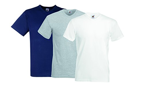 Fruit of the Loom Herren T-Shirt Heavy Tee, 3er Pack Weiß (White 30)