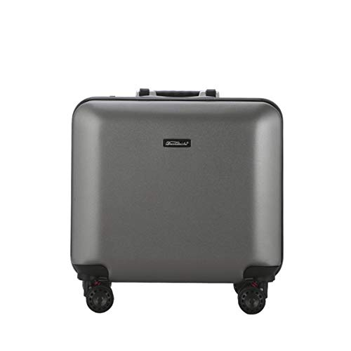 Make-up-Trolley ABS + PC Aluminiumrahmen Stab-Boxen, Matt Stil Gepäck, Universal Rad Boarding Mode Reisegepäck 18 Zoll (Color : Gray) -