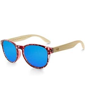 Gafas de madera MOSCA NEGRA modelo MIX OMEGA Leopard X4 Polarized - Wood Sunglasses