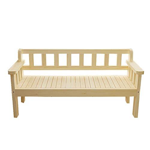 XLOO Sehr viel Möbel, Outdoor Holz Bank, Patio Park Gartenbank Veranda Pfad Stuhl, natürliche Kiefer, super tragend, mehrere Farben, Größe