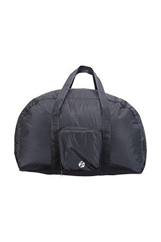 Zakti Packaway Reisetasche - 40 Liter - Gepäcktasche, Leichter Koffer, strapazierfähig, Kompakt, Kabinenkoffer - Für Reise, Sport, Camping Schwarz