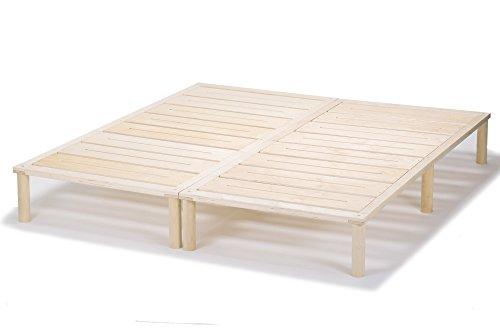 Gigapur G1 26981 Bett | Bettgestell mit Lattenrost | Bettrahmen belastbar bis 195 Kg | Holzbett 160 x 200 cm (2 x 80 x 200 cm)