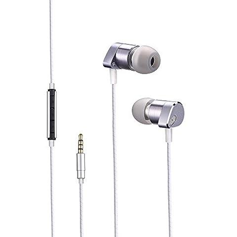 Écouteur intra-auriculaire avec microphone et contrôle de volume Écouteurs intra-auriculaires