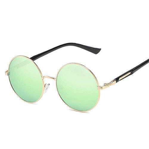 Wghz Runde Sonnenbrille aus Metall für Damen, Vintage-Sonnenbrille
