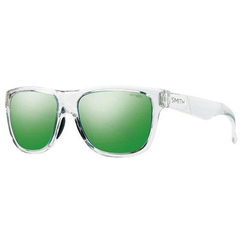 Smith Unisex-Erwachsene Lowdown Slim/N Ad CRA 54 Sonnenbrille, Transparent (Crystal/Green Grey Speckled),