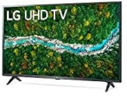 LG UHD 4K TV 43 Inch UP77 Series Cinema Screen Design 4K Active HDR webOS Smart with ThinQ AI, Black, 43UP7750