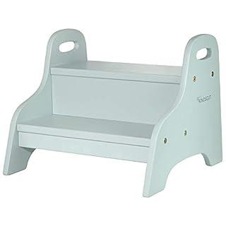 Kindsgut Wooden Step Stool, 2 Steps, Aquamarine