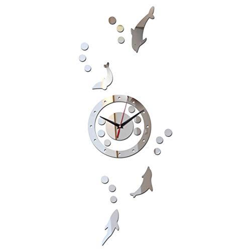 REDGHO Förderung 3D DIY Dekoration Mode Spiegel Nadel Oberfläche Der Wandaufkleber Uhr Wohnzimmer Geschenk Freies Verschiffen