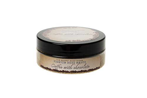 Sucre/sel gommage du corps; Sugar-salt body scrub with coffee beans and chocolate (200 ml) – firming!
