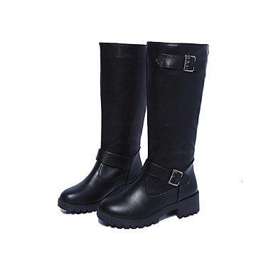 Gll & Xuezi Bottines Pour Femmes Confortable Hiver Pu (polyuréthane) Boucle Décontractée Faible Noir Marron Moins De 2,5 Cm Marron